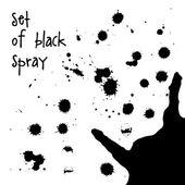 Watercolor black spray — Stock Vector