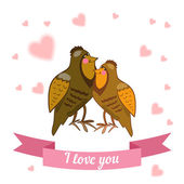 Animal declaration of love — Stock Vector