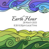 Earth Hour Annual Event — Stock Vector