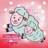 Carta per la festa della mamma. — Vettoriale Stock
