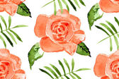 Watercolor seamless roses pattern. — Stock Vector