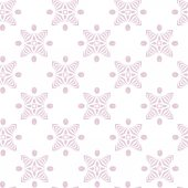 Seamless geometric floral pattern — Stock Vector