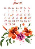 Calendar for june 2015  — Stock Vector