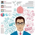 Creative brain Idea — Stock Vector #72348245