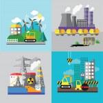 Постер, плакат: Factory landscape Ecology Concept