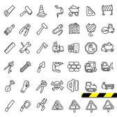 建設落書きアイコン セット — ストックベクタ