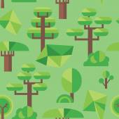 Seamless pattern of flat trees — Stockvector