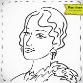 Retro fashion woman — Stock Vector