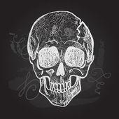 Day of Dead black and white Skull — Stock Vector