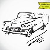 Retro auto ručně kreslenou — Stock vektor