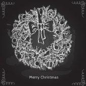 Christmas & New year wreath — Stock Vector