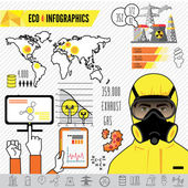 Oil and gas industry infographics, extraction, processing and transportation — Stock Vector