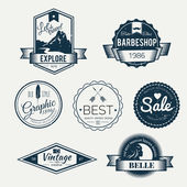 Badges collectie - vector logo's sjabloon. — Stockvector