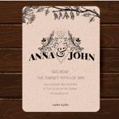 Bruiloft uitnodiging kaartsjabloon. — Stockvector