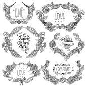 Vector set van ornamenten kalligrafische ontwerpelementen — Stockvector
