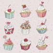 Vector card with colorful cupcake — Stock Vector #81582794