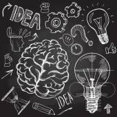 Uppsättning av tänkande doodles element — Stockvektor