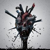 Death scary skull — Stock Vector