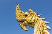 Gloden King of Nagas Statue — Foto de Stock
