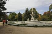 The Royal Palace from Campo del Moro garden, Madrid — Foto de Stock