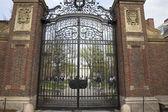 Entrance to the Harvard University campus in Cambridge, MA, USA. — Stock Photo