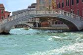 Puentes sobre el gran canal de venecia — Foto de Stock