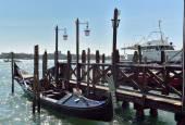 Dock for gondolas in Venice  — Zdjęcie stockowe