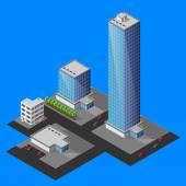 Izometrické budovy — Stock vektor