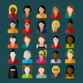 Women appearance icons. people flat icons collection — Stock Vector