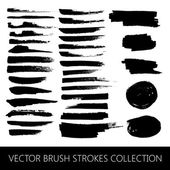 Brush strokes and marker stains — Stock Vector