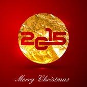 Altın metalik işareti 2015 — Stok Vektör