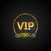 Golden VIP card — Wektor stockowy