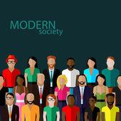 Modern society concept — Stok Vektör