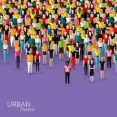 Urban lifestyle concept — Stock Vector