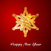 Golden foil snowflake — Vettoriale Stock