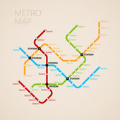 Metro map template — Stock Vector
