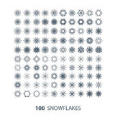 100 graceful snowflakes — Vecteur
