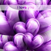 Vector holiday illustration of flying balloon hearts. Valentines Day or wedding background — Vector de stock