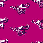Vector seamless pattern of handwritten St. Valentines Day retro labels. holiday lettering background — Stock Vector
