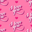 Vector seamless pattern of handwritten I love you retro labels. — Stock Vector #63359619