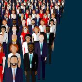 Vector flat illustration of business or politics community — Stock Vector