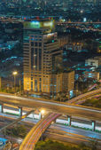 Close up the elevated highway in Bangkok cityscape — Foto de Stock