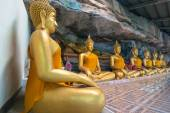 UBON RATCHATHANI,THAILAND MAY 22 : Roll of the Buddha statue in — Stock Photo