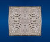 Ytan av stenen med cirkel stil för dekorera på blå rygg — Stockfoto