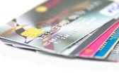 Closeup lot of Credit card — Stock Photo