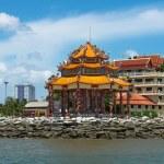 CHONBURI, THAILAND - JUNE 28: The pavilion of Guan Yin statue at — Stock Photo #80015078