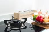 Interior kitchen, detail of electric stove — Stock Photo