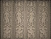 Art on Buddhism temples door on paper background for cardboard — Stock Photo