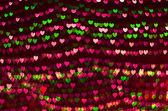 Heart bokeh background, Love concept — Stock Photo