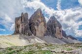 View of the Three Peaks Italy Dolomite — Stock Photo